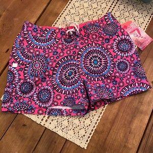 Girls Kanu Pink Starburst Surf Board Shorts